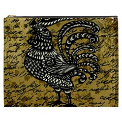Vintage rooster  Cosmetic Bag (XXXL)