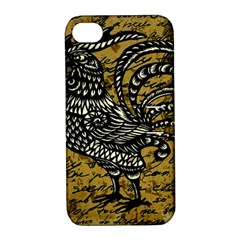 Vintage rooster  Apple iPhone 4/4S Hardshell Case with Stand