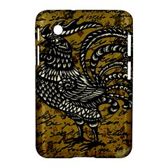 Vintage rooster  Samsung Galaxy Tab 2 (7 ) P3100 Hardshell Case