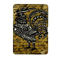 Vintage rooster  Samsung Galaxy Tab 2 (10.1 ) P5100 Hardshell Case
