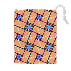 Overlaid Patterns Drawstring Pouches (Extra Large)