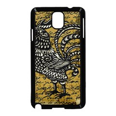 Vintage rooster  Samsung Galaxy Note 3 Neo Hardshell Case (Black)