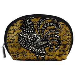 Vintage rooster  Accessory Pouches (Large)