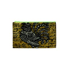 Vintage rooster  Cosmetic Bag (XS)