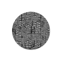 Recursive Subdivision Between 5 Source Lines Screen Black Magnet 3  (round)