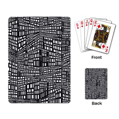 Recursive Subdivision Between 5 Source Lines Screen Black Playing Card