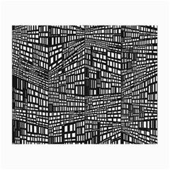 Recursive Subdivision Between 5 Source Lines Screen Black Small Glasses Cloth (2-Side)
