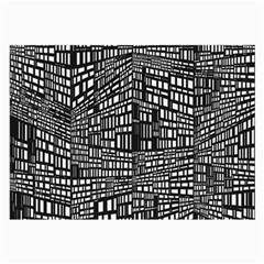 Recursive Subdivision Between 5 Source Lines Screen Black Large Glasses Cloth (2 Side)