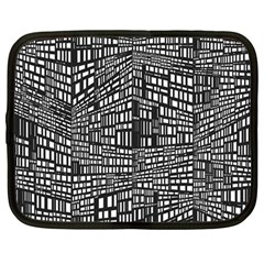 Recursive Subdivision Between 5 Source Lines Screen Black Netbook Case (Large)