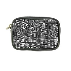 Recursive Subdivision Between 5 Source Lines Screen Black Coin Purse
