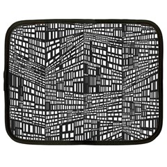 Recursive Subdivision Between 5 Source Lines Screen Black Netbook Case (xl)