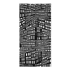 Recursive Subdivision Between 5 Source Lines Screen Black Shower Curtain 36  x 72  (Stall)