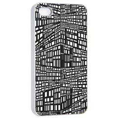 Recursive Subdivision Between 5 Source Lines Screen Black Apple Iphone 4/4s Seamless Case (white)