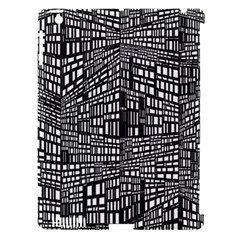 Recursive Subdivision Between 5 Source Lines Screen Black Apple iPad 3/4 Hardshell Case (Compatible with Smart Cover)