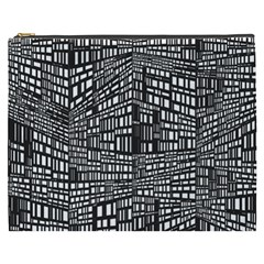 Recursive Subdivision Between 5 Source Lines Screen Black Cosmetic Bag (XXXL)
