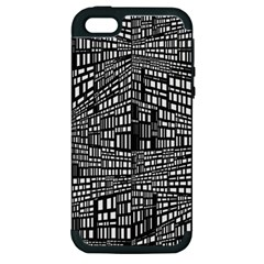 Recursive Subdivision Between 5 Source Lines Screen Black Apple iPhone 5 Hardshell Case (PC+Silicone)