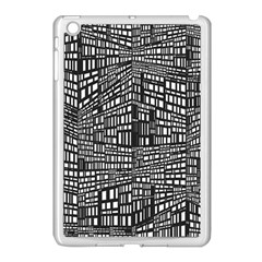 Recursive Subdivision Between 5 Source Lines Screen Black Apple iPad Mini Case (White)