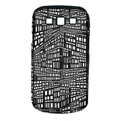 Recursive Subdivision Between 5 Source Lines Screen Black Samsung Galaxy S III Classic Hardshell Case (PC+Silicone)