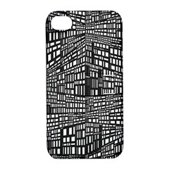 Recursive Subdivision Between 5 Source Lines Screen Black Apple iPhone 4/4S Hardshell Case with Stand