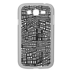 Recursive Subdivision Between 5 Source Lines Screen Black Samsung Galaxy Grand DUOS I9082 Case (White)