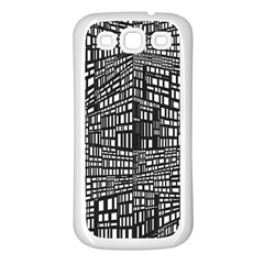 Recursive Subdivision Between 5 Source Lines Screen Black Samsung Galaxy S3 Back Case (White)