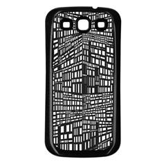 Recursive Subdivision Between 5 Source Lines Screen Black Samsung Galaxy S3 Back Case (Black)
