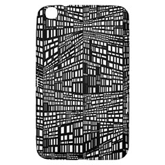 Recursive Subdivision Between 5 Source Lines Screen Black Samsung Galaxy Tab 3 (8 ) T3100 Hardshell Case