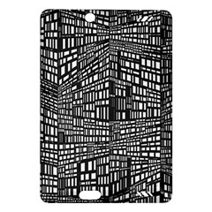 Recursive Subdivision Between 5 Source Lines Screen Black Amazon Kindle Fire HD (2013) Hardshell Case