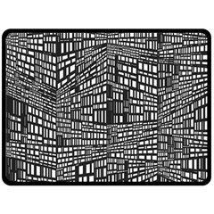 Recursive Subdivision Between 5 Source Lines Screen Black Double Sided Fleece Blanket (Large)