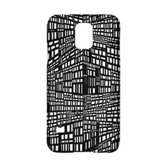 Recursive Subdivision Between 5 Source Lines Screen Black Samsung Galaxy S5 Hardshell Case