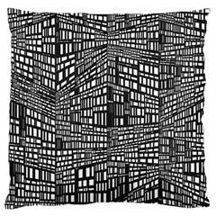 Recursive Subdivision Between 5 Source Lines Screen Black Large Flano Cushion Case (Two Sides)