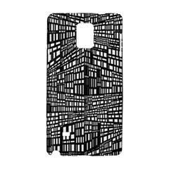 Recursive Subdivision Between 5 Source Lines Screen Black Samsung Galaxy Note 4 Hardshell Case