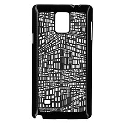 Recursive Subdivision Between 5 Source Lines Screen Black Samsung Galaxy Note 4 Case (Black)