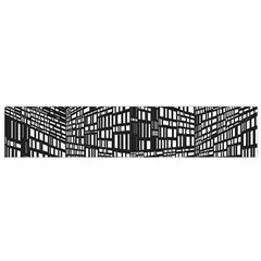 Recursive Subdivision Between 5 Source Lines Screen Black Flano Scarf (Small)