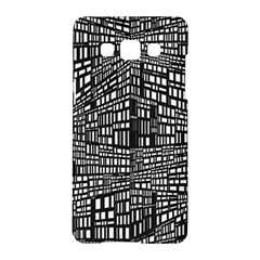 Recursive Subdivision Between 5 Source Lines Screen Black Samsung Galaxy A5 Hardshell Case