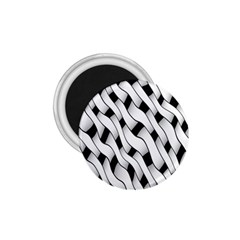 Black And White Pattern 1.75  Magnets
