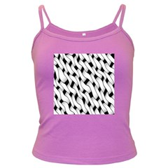 Black And White Pattern Dark Spaghetti Tank