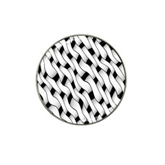 Black And White Pattern Hat Clip Ball Marker (10 pack)