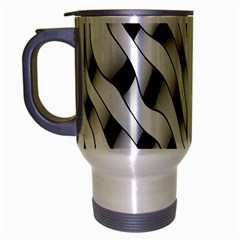 Black And White Pattern Travel Mug (Silver Gray)