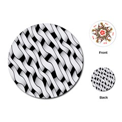 Black And White Pattern Playing Cards (Round)