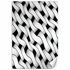 Black And White Pattern Canvas 12  X 18