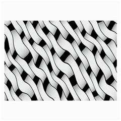 Black And White Pattern Large Glasses Cloth