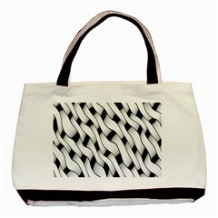 Black And White Pattern Basic Tote Bag (two Sides)