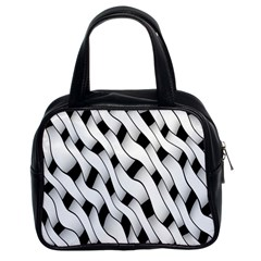 Black And White Pattern Classic Handbags (2 Sides)