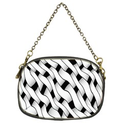 Black And White Pattern Chain Purses (two Sides)