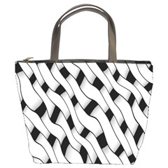 Black And White Pattern Bucket Bags