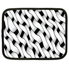 Black And White Pattern Netbook Case (XL)