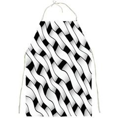 Black And White Pattern Full Print Aprons