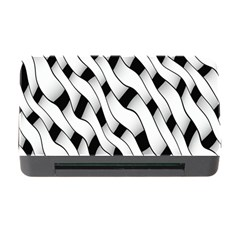 Black And White Pattern Memory Card Reader with CF