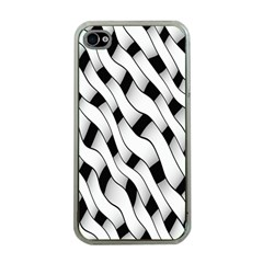 Black And White Pattern Apple iPhone 4 Case (Clear)